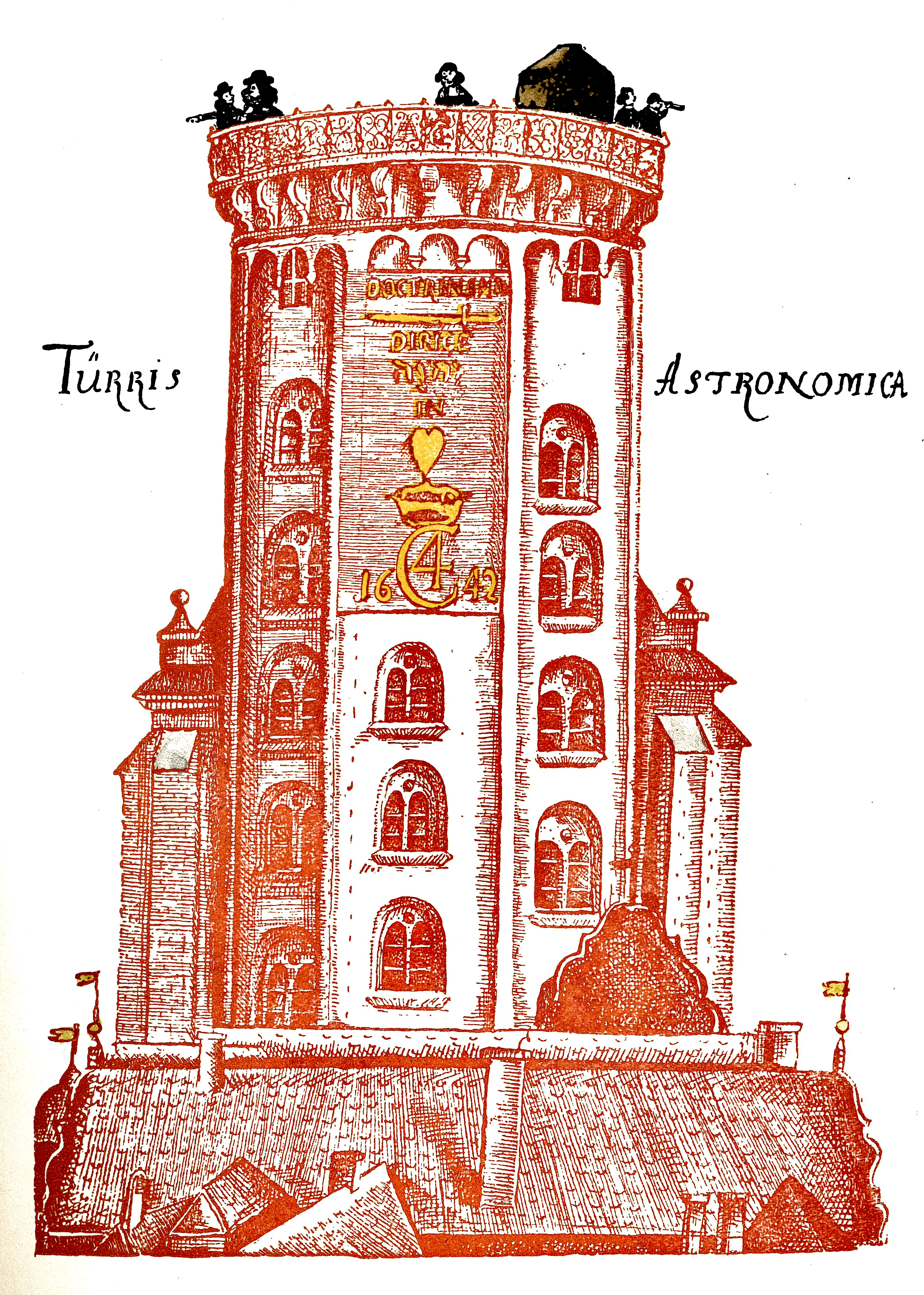 An early depiction of the Round Tower from Holger Jacobæus' travel book