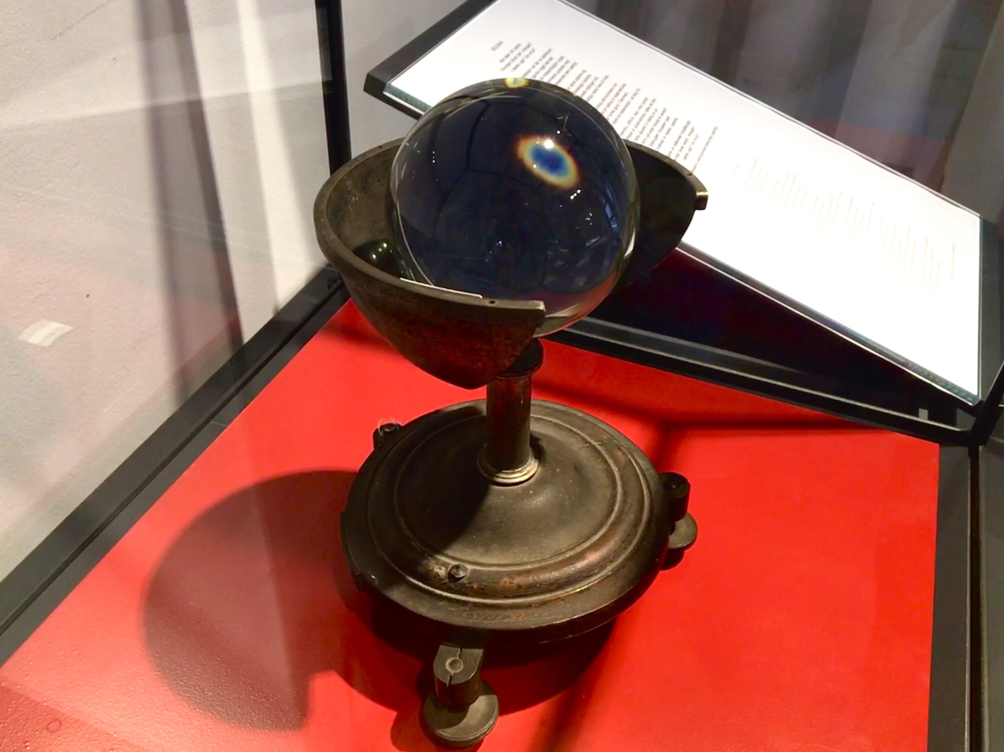Sunshine recorder on exhibit in the Old Library Hall
